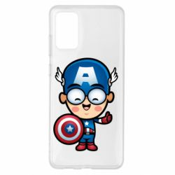 Чехол для Samsung S20+ Маленький Капитан Америка
