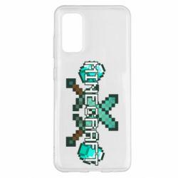 Чохол для Samsung S20 Minecraft алмазний меч