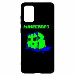 Чохол для Samsung S20+ Minecraft Head
