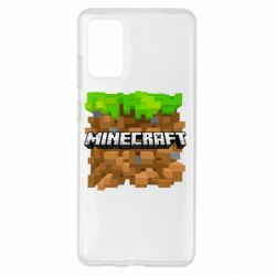 Чохол для Samsung S20+ Minecraft Main Logo