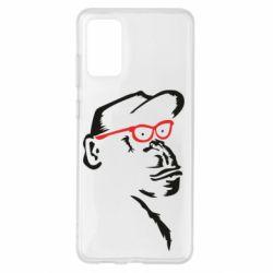 Чохол для Samsung S20+ Monkey in red glasses