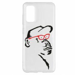 Чохол для Samsung S20 Monkey in red glasses