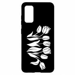 Чохол для Samsung S20 Monochrome tulips