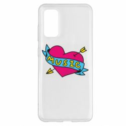 Чохол для Samsung S20 Music and heart