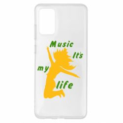 Чохол для Samsung S20+ Music it's my life