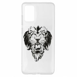 Чохол для Samsung S20+ Muzzle of a lion