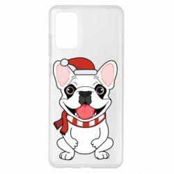 Чехол для Samsung S20+ New Year's French Bulldog