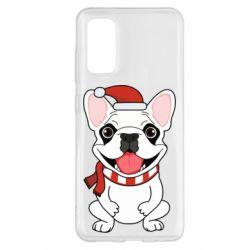 Чехол для Samsung S20 New Year's French Bulldog