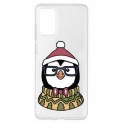 Чехол для Samsung S20+ New Year's Penguin