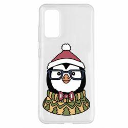 Чехол для Samsung S20 New Year's Penguin