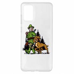 Чохол для Samsung S20+ Мисливець з собакою