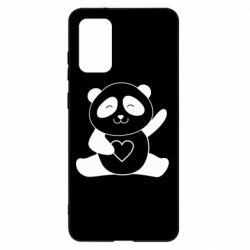 Чохол для Samsung S20+ Panda and heart