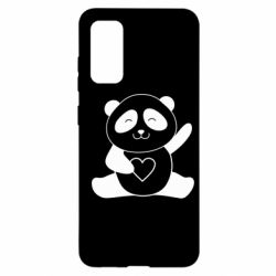 Чохол для Samsung S20 Panda and heart