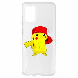 Чехол для Samsung S20+ Pikachu in a cap