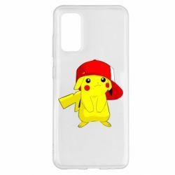 Чехол для Samsung S20 Pikachu in a cap