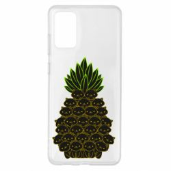 Чехол для Samsung S20+ Pineapple cat