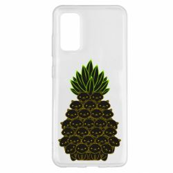 Чехол для Samsung S20 Pineapple cat