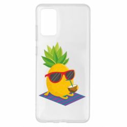 Чохол для Samsung S20+ Pineapple with coconut