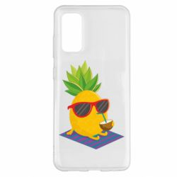 Чохол для Samsung S20 Pineapple with coconut