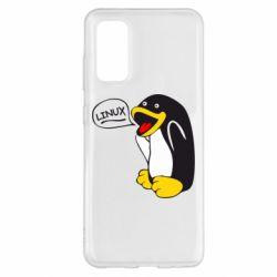 Чехол для Samsung S20 Пингвин Линукс