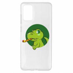 Чохол для Samsung S20+ Святковий динозавр