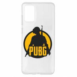 Чехол для Samsung S20+ PUBG logo and game hero