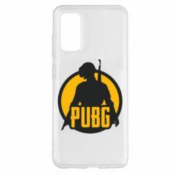 Чехол для Samsung S20 PUBG logo and game hero