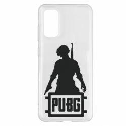 Чехол для Samsung S20 PUBG logo and hero