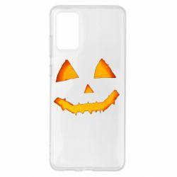 Чохол для Samsung S20+ Pumpkin face features