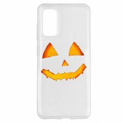 Чохол для Samsung S20 Pumpkin face features
