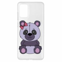 Чохол для Samsung S20+ Purple Teddy Bear