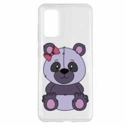 Чохол для Samsung S20 Purple Teddy Bear