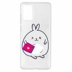 Чохол для Samsung S20+ Rabbit with a letter