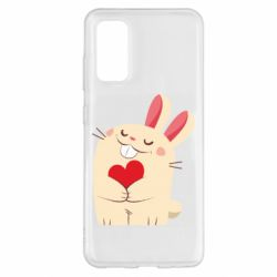 Чехол для Samsung S20 Rabbit with heart