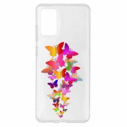 Чохол для Samsung S20+ Rainbow butterflies