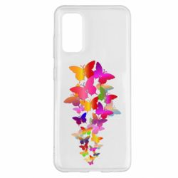 Чохол для Samsung S20 Rainbow butterflies