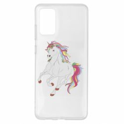 Чехол для Samsung S20+ Red eye unicorn