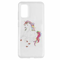 Чохол для Samsung S20 Red eye unicorn