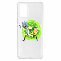 Чохол для Samsung S20+ Rick and Morty art