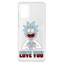 Чохол для Samsung S20+ Rick and Morty fack and love you
