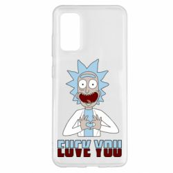 Чохол для Samsung S20 Rick and Morty fack and love you