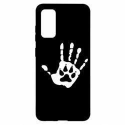 Чехол для Samsung S20 Рука волка