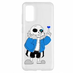Чохол для Samsung S20 Sans with heart