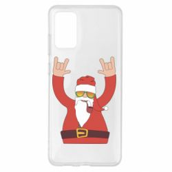 Чохол для Samsung S20+ Santa Claus with a tube