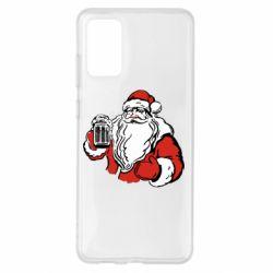 Чехол для Samsung S20+ Santa Claus with beer
