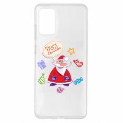 Чехол для Samsung S20+ Santa says merry christmas