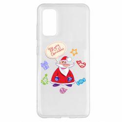 Чехол для Samsung S20 Santa says merry christmas