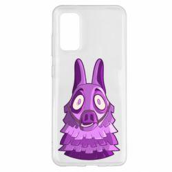 Чохол для Samsung S20 Scared llama from fortnite