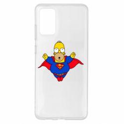 Чехол для Samsung S20+ Simpson superman