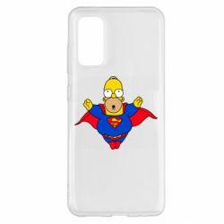 Чехол для Samsung S20 Simpson superman